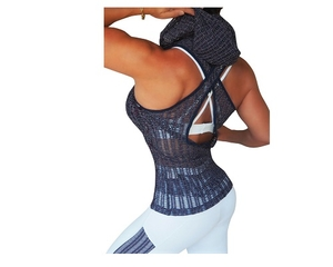 Bia Brazil Hoodie Vest 2613 Zipper Mesh Lavendel