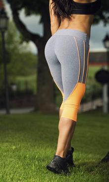 Bia Brazil Short Leggings 3121 Light Grey / Orange.