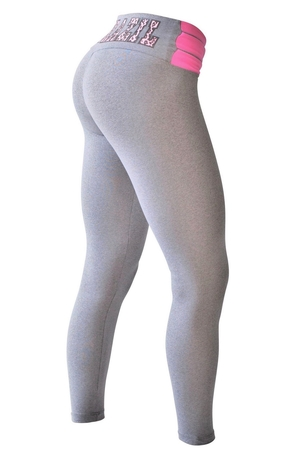 Bia Brazil Leggings 3115 Light Grey/Hot Pink