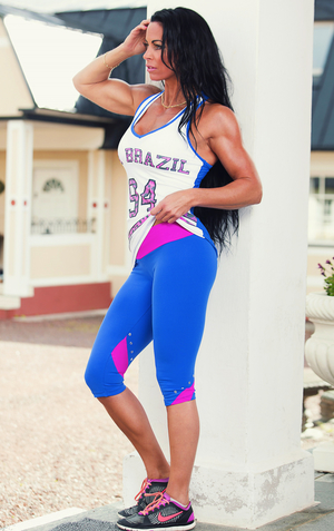 Bia Brazil Short Leggings 2882 Ocean Blue / Pink