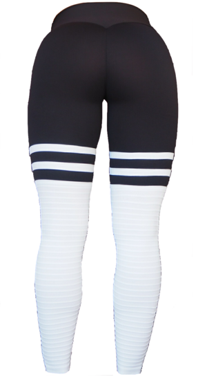 High Sox Leggings Black/White