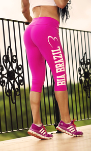 Bia Brazil Short Leggings 3115 Logo Pink