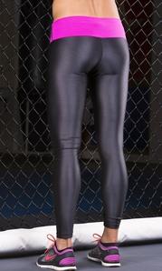 Leggings 024 Metallic Black / Pink