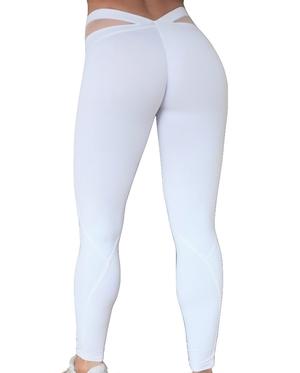 Bubble Butt Tights White