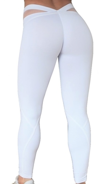 RAW By Adriana Kuhl Bubble Butt Tights White