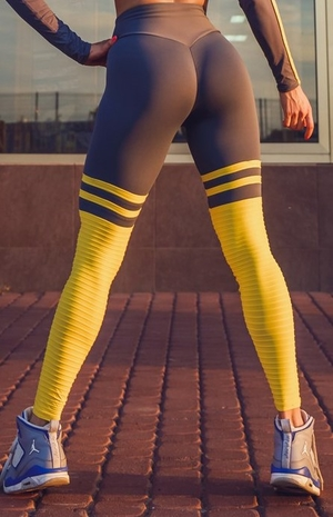High Sox Leggings Grey/Yellow