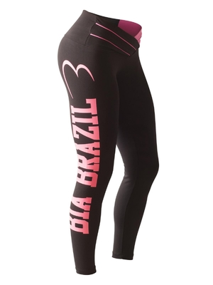 Bia Brazil Leggings 3115 Black / Hot Pink Printed