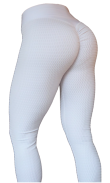 Brazilian Butt Scrunch Leggings White