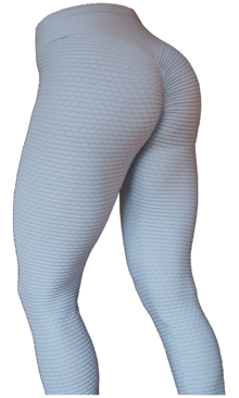 Brazilian Butt Scrunch Tights Light Grey