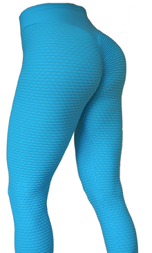 Brazilian Butt Scrunch Tights Light Blue