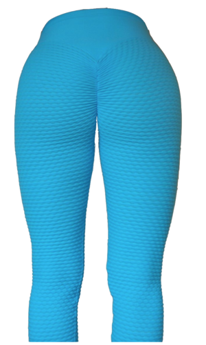 Brazilian Butt Scrunch Leggings Light Blue