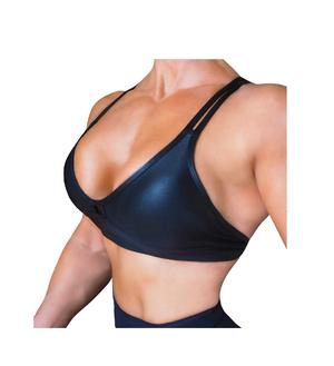 RAW By Adriana Kuhl Crush Sports Bra Metallic Black