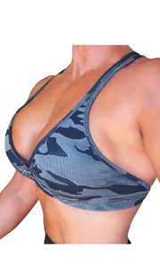 RAW By Adriana Kuhl Crush Sports Bra Camo