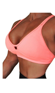 RAW By Adriana Kuhl Crush Sports Bra Coral