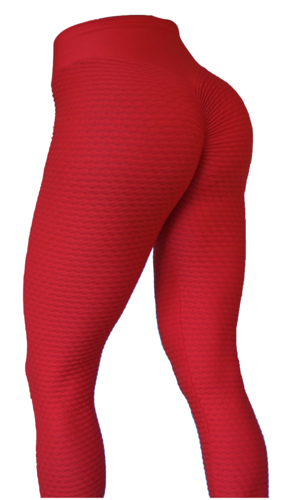 Brazilian Butt Scrunch Tights Red