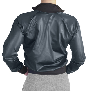 Raw By Adriana Kuhl Bomber Jacket Shiny Black