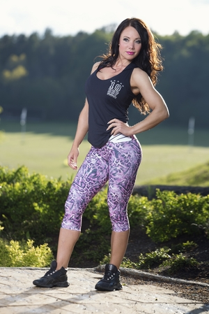 Bia Brazil Short Leggings 3115 Pink Leopard