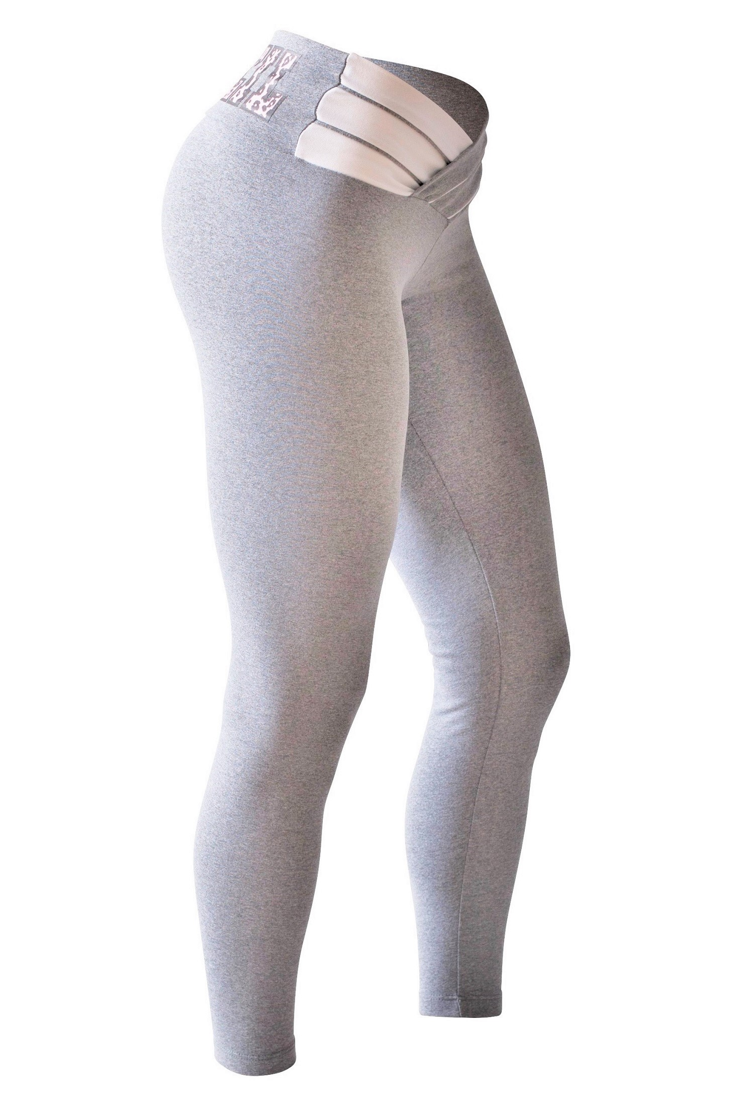 f5d394dd28501 Bia Brazil Leggings 3115 Light Grey/White. Click to enlarge image